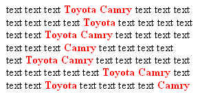 toyota camry text