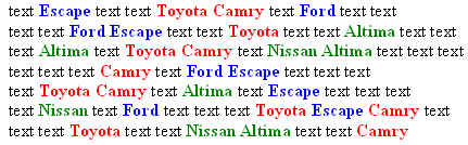 toyota camry stand out text